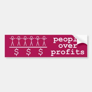 People Over Profits Bumper Sticker
