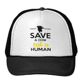 People Pets - Save a cow eat a human Mesh Hats
