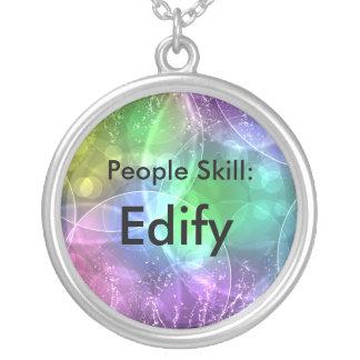 People Skill: Edify Round Pendant Necklace