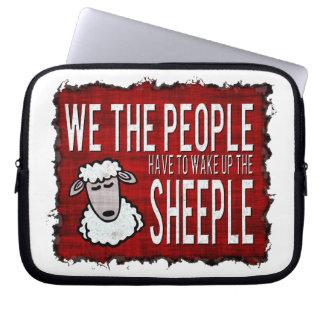 People Wake up Sheeple Laptop Sleeve