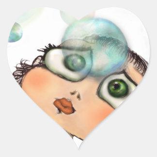 Pepe dagli occhi grandi heart sticker