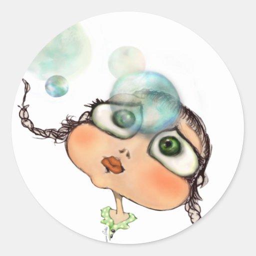 Pepe dagli occhi grandi round stickers