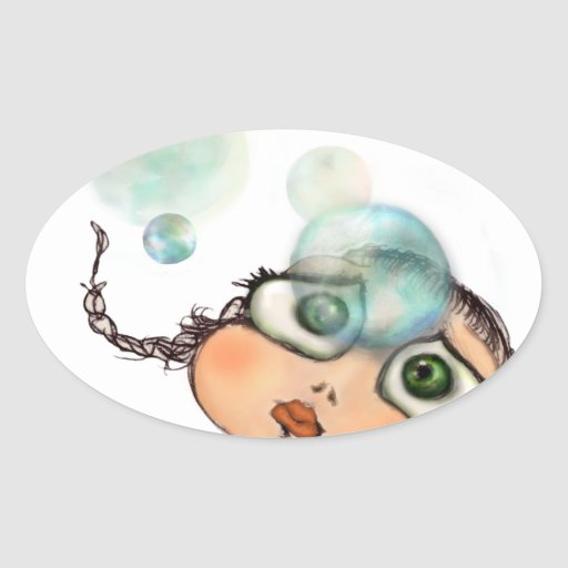 Pepe dagli occhi grandi oval sticker