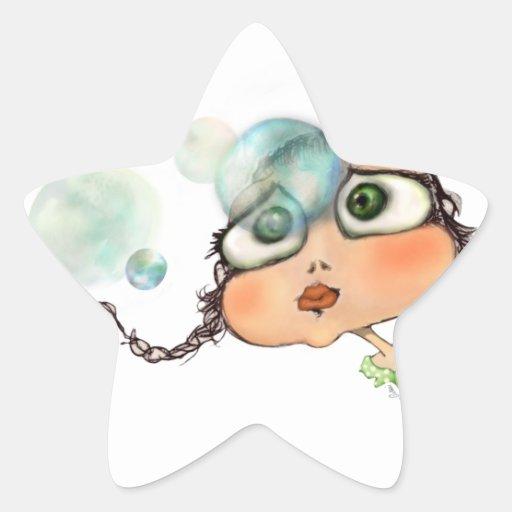 Pepe dagli occhi grandi star stickers