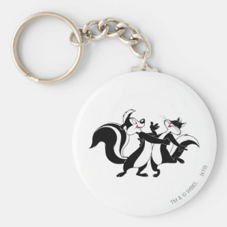 Pepe Le Pew and Penelope 3 Key Ring