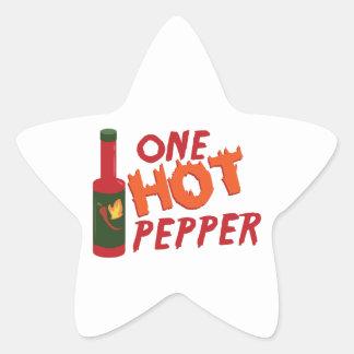 Pepper Sauce Star Sticker