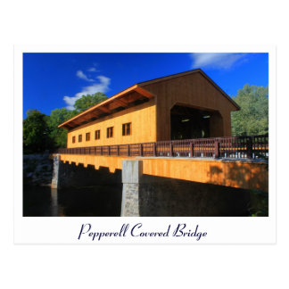 Pepperell MA New Covered Bridge Postcard
