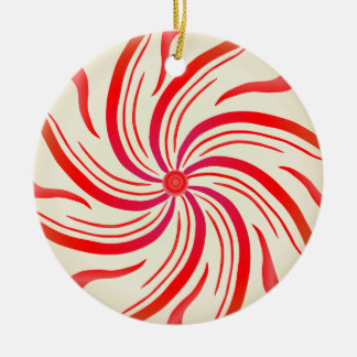 Peppermint Candy Swirl Christmas Ornament