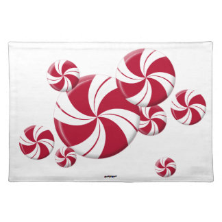 Peppermint Swirl Stripe Candy Placemat