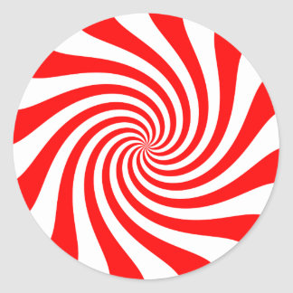 Peppermint Twirl Classic Round Sticker