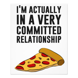 Pepperoni Pizza Love - A Serious Relationship 11.5 Cm X 14 Cm Flyer