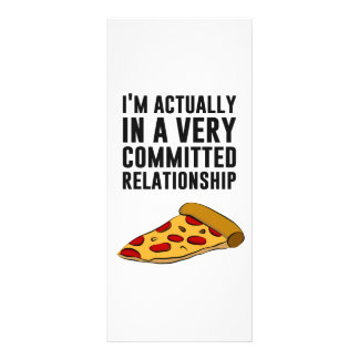 Pepperoni Pizza Love - A Serious Relationship Custom Rack Card