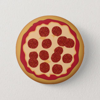 Pepperoni Pizza Pie 6 Cm Round Badge