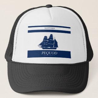 pequod blue stripe trucker hat