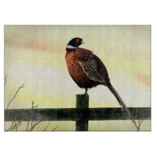 Perching Pheasant Cutting Board