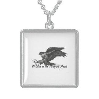 Peregrine Hawk necklace Square Pendant Necklace