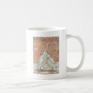Perfect couple bird art love romantic original art coffee mug