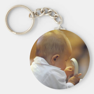 Perfect for special occasions such Baptisms Basic Round Button Key Ring