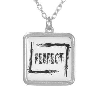 Perfect Square Pendant Necklace