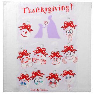 Perfume Bottle Emoji-Thanksgiving Napkin