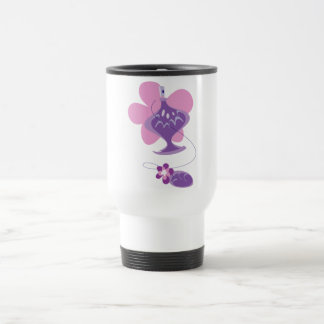 Perfume Bottle in Pink and Purple Travel Mug