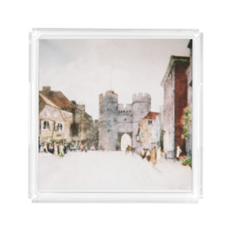 Perfume tray with 'Canterbury Tower Gate' image