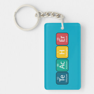 Periodic Table Elements Spelling Teacher Key Ring
