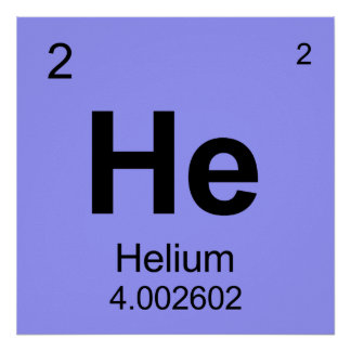 Periodic Table of Elements (Helium) Poster