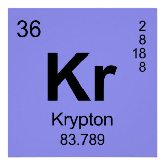 Periodic Table of Elements (Krypton) Poster