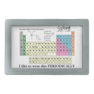 Periodic Table of the Elements Rectangular Belt Buckle