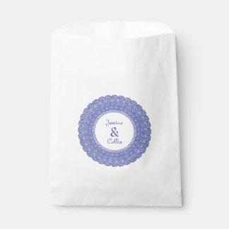 Periwinkle lace favor bags favour bags