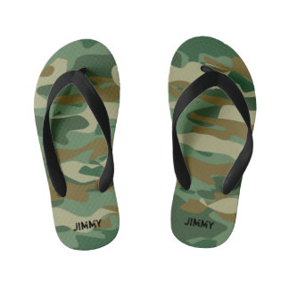 Peronalized army camo kids Flip Flops for children Thongs