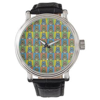 Perro de Presa Canario Cartoon Pop-Art Wristwatch