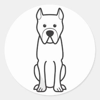 Perro de Presa Canario Classic Round Sticker