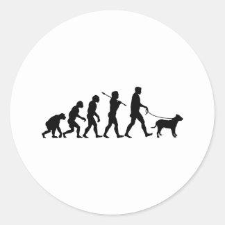 Perro de Presa Canario Round Stickers