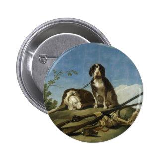 Perros en traílla Button