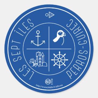 Perros-Guirec 7 Islands Round Sticker