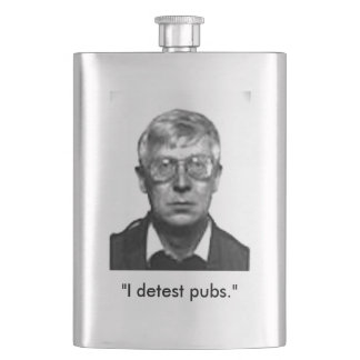 Perry Anderson Detests Pubs flask