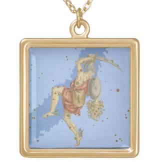 Perseus with the head of Medusa, from 'Uranometria Gold Plated Necklace