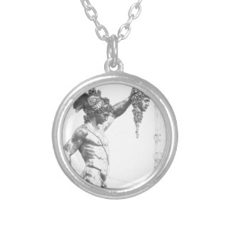 Perseus with the Head of Medusa Silver Plated Necklace