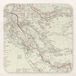 Persia, Ottoman Empire Square Paper Coaster