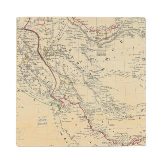 Persia, Ottoman Empire Wood Coaster