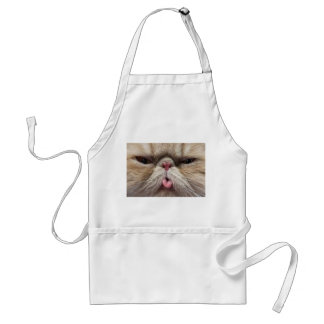 Persian Cat Sticking Tongue Out Apron