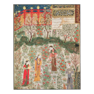 Persian Garden, 15th century (w/c on paper)