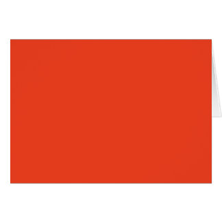 PERSIMMON (solid red-orange color) ~ Greeting Card