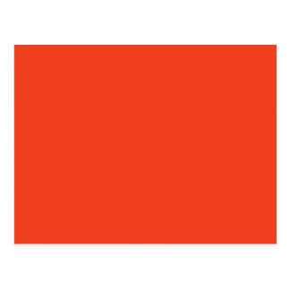 PERSIMMON (solid red-orange color) ~ Postcard