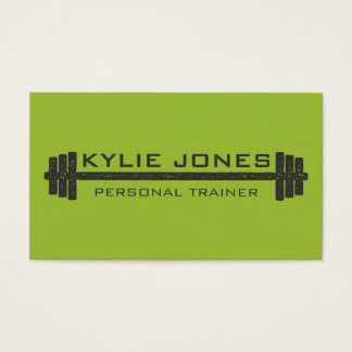 Personal Trainer Fitness barbell weight Business Card
