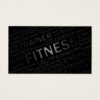 Personal Trainer Loyalty Punch Business Card