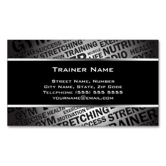 Personal Trainer Magnetic Business Card Magnetic Business Cards