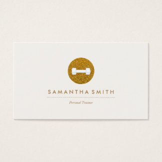 Personal Trainer Sparkling Logo Business Card